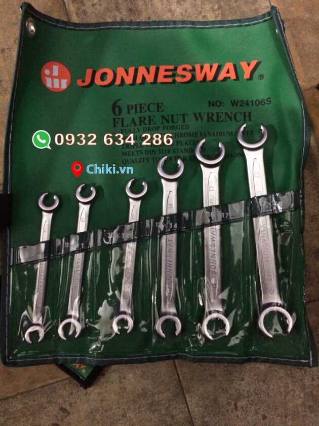 Cờ lê mở ống dầu 6 chi tiết Jonnesway W24106S